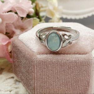 S925 Aquamarine Rings 💍